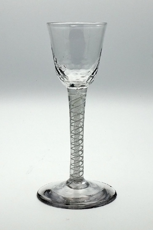 Air twist cordial glass c. 1750