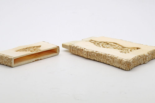 19th Century Chinese Canton Ivory card case