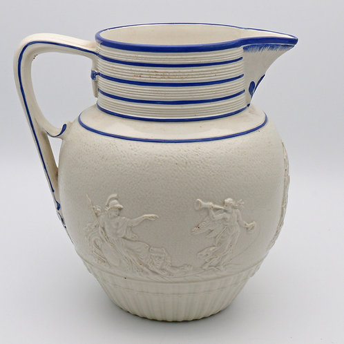 Victorian Staffordshire jug for Lord Nelson