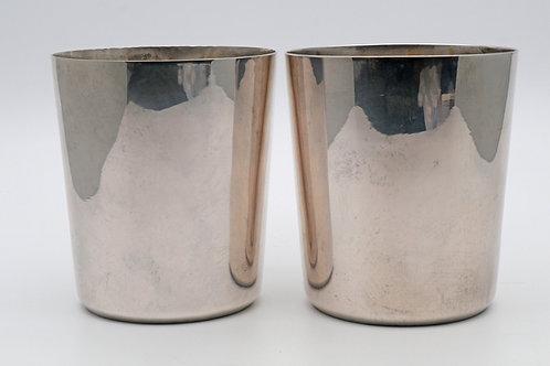 Rare 19th Century Portuguese silver beakers
