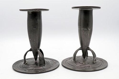 Liberty and Co 'Tudric' Pewter Candlesticks
