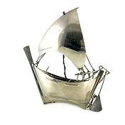 Persian silver sailing ship, marked 925