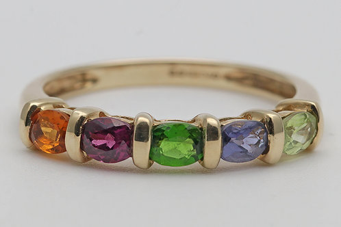 9ct gold multi-gem ring