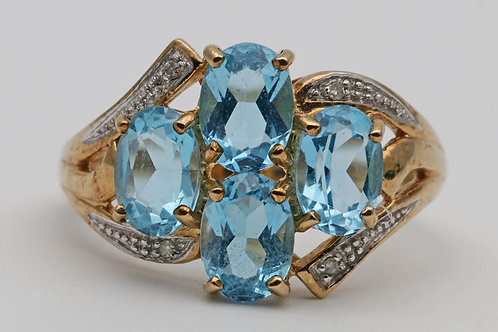 Vintage gold and topaz ring