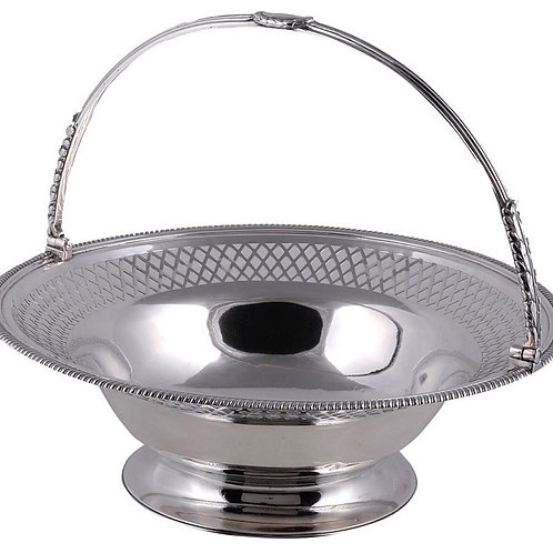 Silver circular pedestal basket by Paul Storr