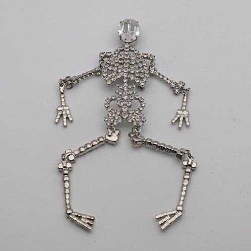Butler and Wilson skeleton brooch
