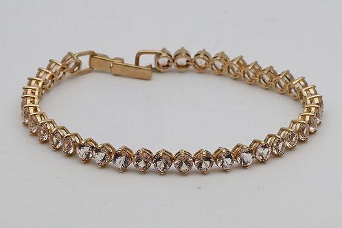Galileia morganite bracelet in yellow gold