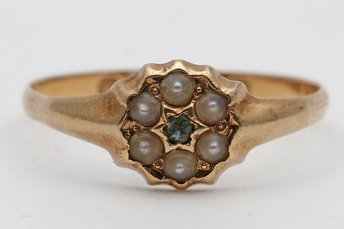Small Victorian 18ct gold ring