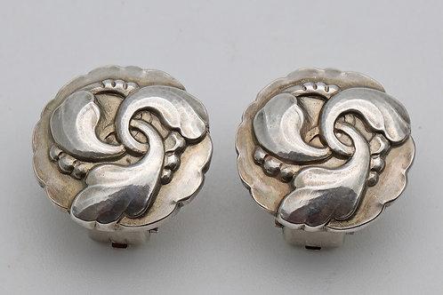 Rare Georg Jensen silver earrings
