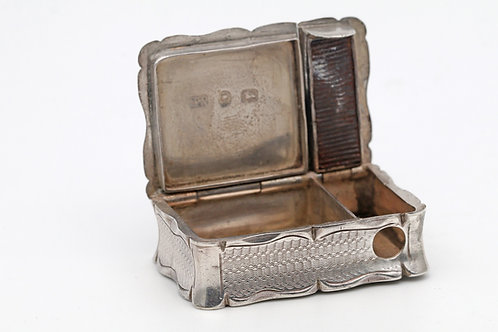 William Neal Silver Early Victorian combination Vesta Case/Cigar Cutter