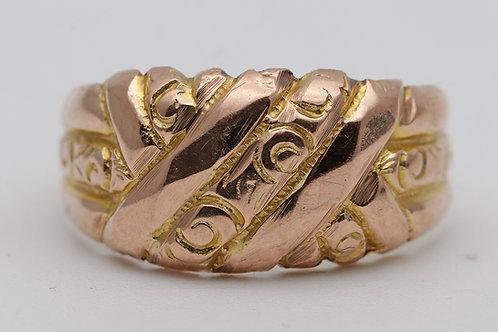 Rose gold 'keeper' ring