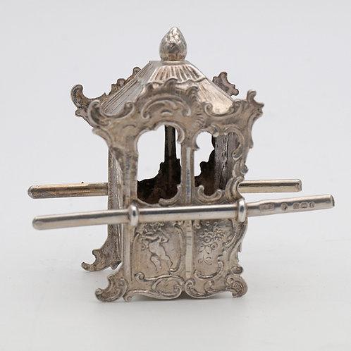 Silver miniature sedan chair