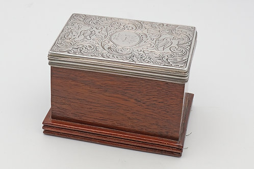 Early Victorian box with silver lid