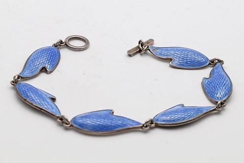 Danish silver and enamel bracelet