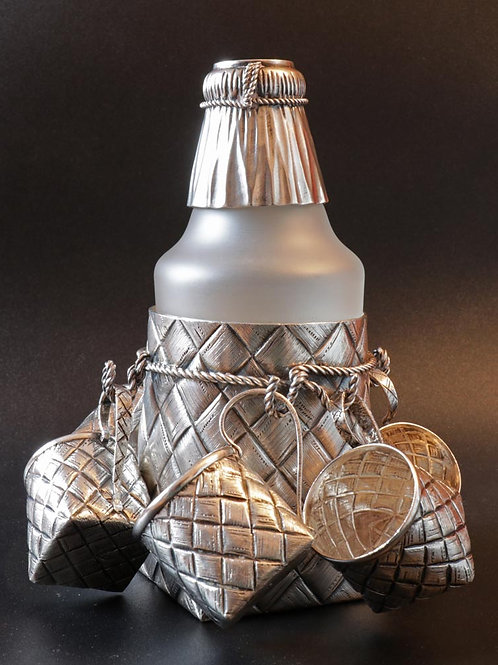 Russian silver trompe-l'œil vodka set