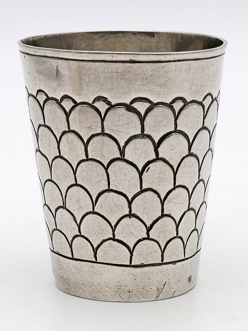 Rare German silver beaker  18th Century