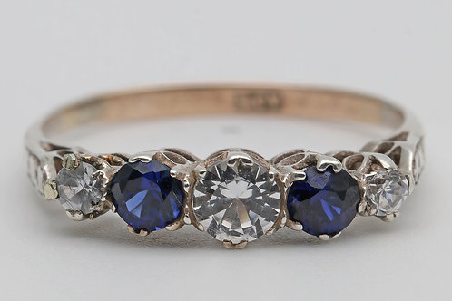 1930s gold and sapphire ring
