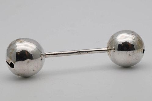 Vintage silver rattle