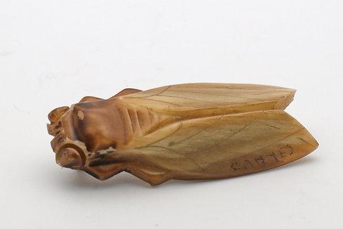 Art Deco Cicada Horn Brooch