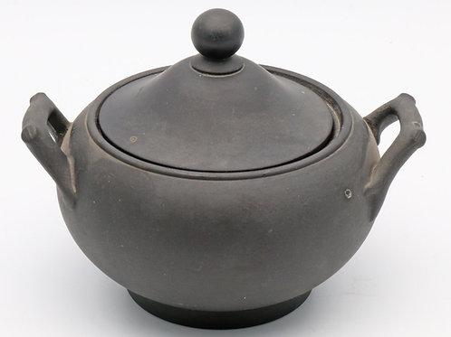 Victorian Wedgwood black basalt sugar bowl