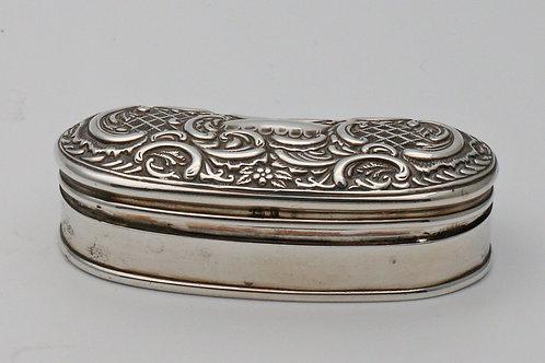 Velvet-lined silver trinket box