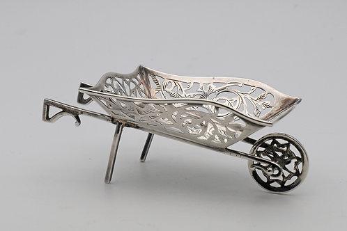 Edwardian silver novelty wheelbarrow