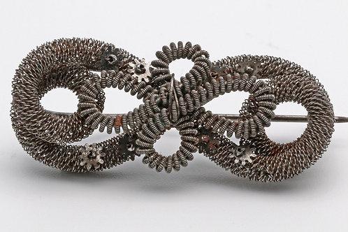 Silesian wire work brooch