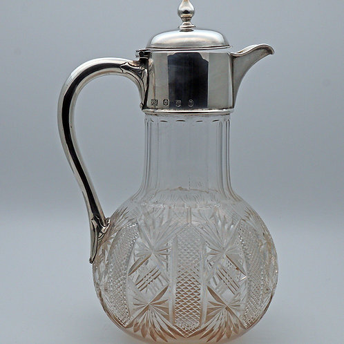 Scottish crystal claret jug 1902