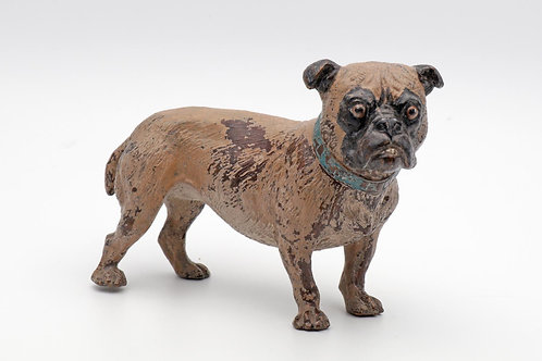 Austrian cold-painted bronze dog