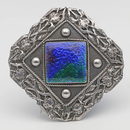 Charles Horner silver and enamel brooch