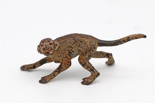 Austrian miniature cold painted bronze of a monkey