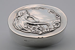 Art Nouveau Silver Box by T.H.Hazlewood
