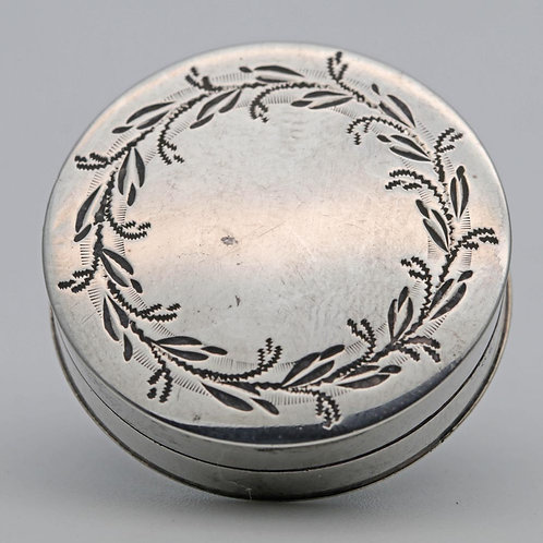 Georgian silver patch or token box