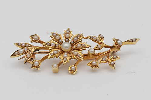 Early 20th century gold brooch