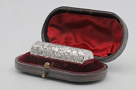 Sampson Mordan Small silver scent in original case 1887