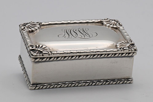 Gorham Corporation silver stamp box
