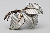 Bernard Meldahl silver and enamel brooch £95