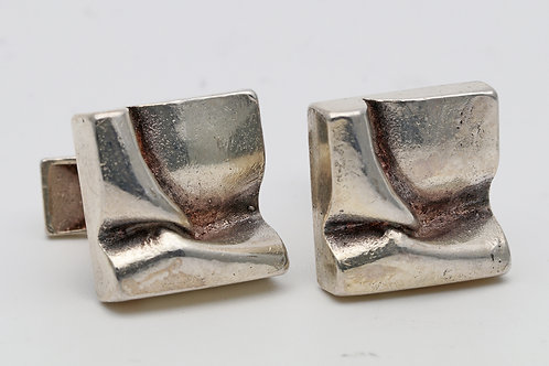 Silver cuff links from Finland