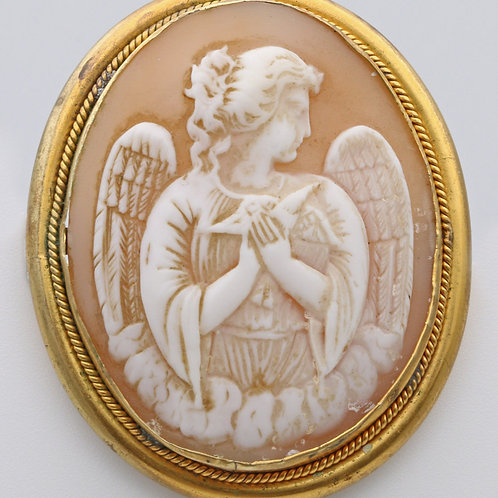 Victorian cameo of an angel