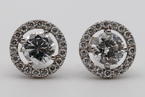 Diamond cluster ear studs