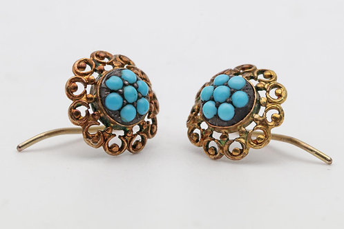 Victorian gold ear rings