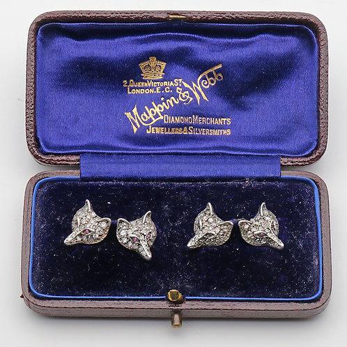 Edwardian novelty diamond cuff links