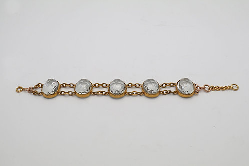 Victorian rock crystal bracelet
