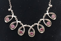 Herman Siersbol necklace with pink stones set in silver  £185