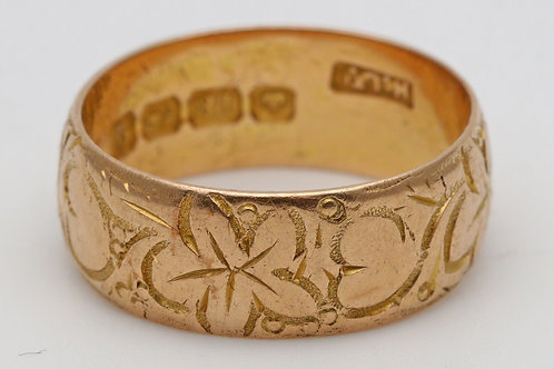 Early 20th century 18ct gold band ring