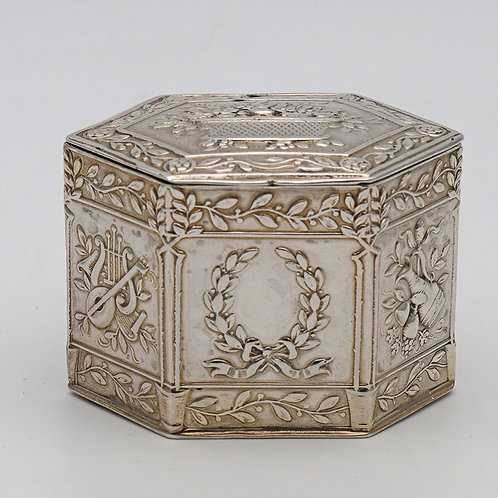 German silver peppermint or snuff box c.1880