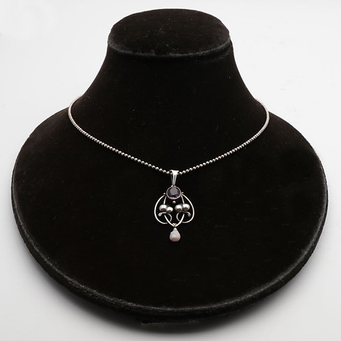 Art Nouveau Amethyst Necklace