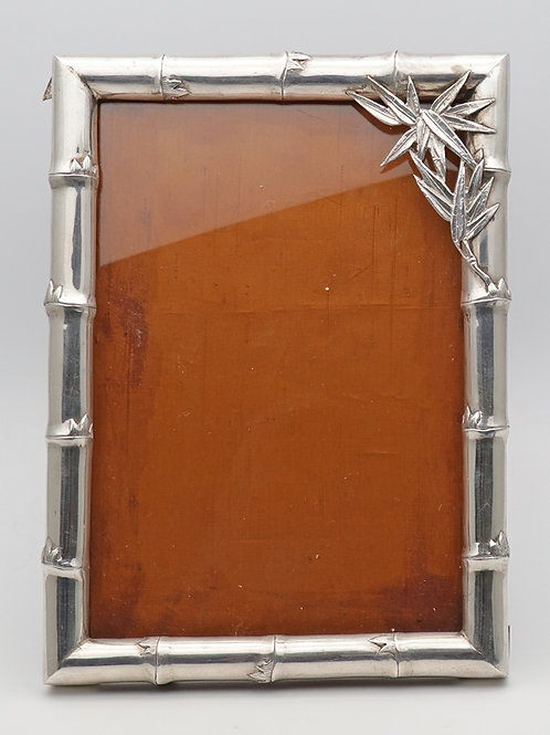 Silver photo frame c.1920s Chinese