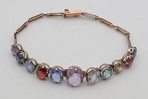 Gem-set Edwardian gold bracelet