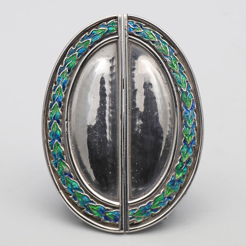Liberty & Co Silver and Enamel Buckle